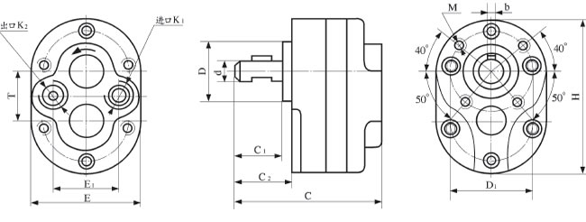 CB-B齿轮泵安装尺寸